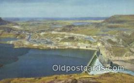 trn001351 - Grand Coulee Dam, Washington, WA USA Trains, Railroads Postcard Post Card Old Vintage Antique
