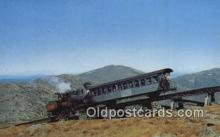 trn001358 - Cog Railway, Mt Washington, New Hampshire, NH USA Trains, Railroads Postcard Post Card Old Vintage Antique