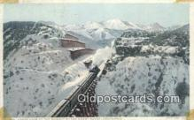 trn001363 - Cajon Pass At The Summit Of The Coast Range, California, CA USA Trains, Railroads Postcard Post Card Old Vintage Antique