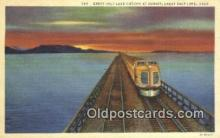 trn001374 - Great Salt Lake Cut Off, Utah, UT USA Trains, Railroads Postcard Post Card Old Vintage Antique