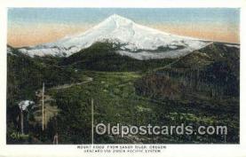 trn001378 - Mount Hood, Sandy River, Oregon, OR USA  Trains, Railroads Postcard Post Card Old Vintage Antique
