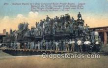 trn001388 - Southern Pacific Company's New Compound Mallet Freight Engine Trains, Railroads Postcard Post Card Old Vintage Antique