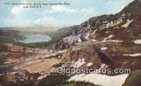 trn001389 - Summit Of The Sierras, California, CA USA Trains, Railroads Postcard Post Card Old Vintage Antique