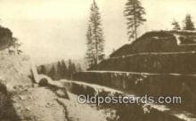trn001401 - Repro Image Fort Point Cut, PRR Trains, Railroads Postcard Post Card Old Vintage Antique