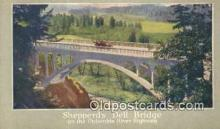 trn001403 - Shepperds Dell Bridge Union Pacific System Trains, Railroads Postcard Post Card Old Vintage Antique