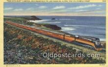 trn001409 - The Daylight, Limited, San Francisco, California, CA USA Trains, Railroads Postcard Post Card Old Vintage Antique