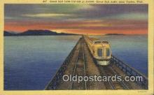 trn001429 - Great Salt Lake Cut Off, Utah, UT USA Trains, Railroads Postcard Post Card Old Vintage Antique
