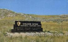 trn001431 - Golden Spike National Historic Site, Utah, UT USA Trains, Railroads Postcard Post Card Old Vintage Antique