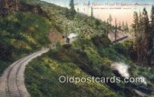 trn001438 - Loop Tunnels 14 And 15 In Siskiyou Mountains, Oregon, OR USA Trains, Railroads Postcard Post Card Old Vintage Antique