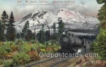trn001441 - Mt Shasta, California, CA USA Trains, Railroads Postcard Post Card Old Vintage Antique