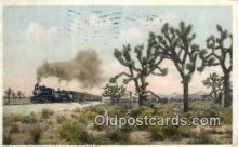trn001443 - The California Limited On The Desert, California, CA USA Trains, Railroads Postcard Post Card Old Vintage Antique