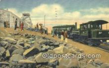 trn001450 - Pikes Peak Summit, Colorado, CO USA Trains, Railroads Postcard Post Card Old Vintage Antique