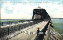 trn001453 - Portal Of Citoria Jubilee Bridge, Montreal, Canada Trains, Railroads Postcard Post Card Old Vintage Antique