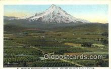 trn001476 - Mt Hood And Hood River Valley, Oregon, OR USA Trains, Railroads Postcard Post Card Old Vintage Antique