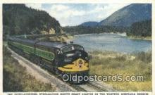trn001478 - Diesel Powered Streamlined North Coast Limited, Rockies Trains, Railroads Postcard Post Card Old Vintage Antique