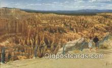 trn001483 - Bryce Canyon National Park, Utah, UT USA Trains, Railroads Postcard Post Card Old Vintage Antique