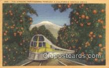 trn001493 - Streamliner, California, CA USA Trains, Railroads Postcard Post Card Old Vintage Antique