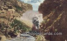 trn001494 - Inspiration Point, Clear Creek Canyon, Colorado, CO USA Trains, Railroads Postcard Post Card Old Vintage Antique