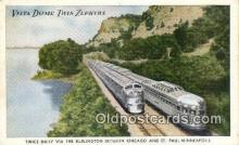 trn001510 - Vista Dome Twin Zephyrs, St Paul Minneapolis, Minnesota, MN USA Trains, Railroads Postcard Post Card Old Vintage Antique