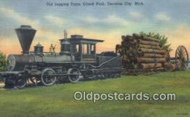 trn001523 - Old Logging Train, Clinch Park, Traverse City, Michigan, MI USA Trains, Railroads Postcard Post Card Old Vintage Antique