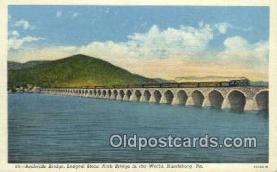 trn001524 - Rockville Bridge, Harrisburg, Pennsylvania, PA USA Trains, Railroads Postcard Post Card Old Vintage Antique