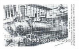 trn001527 - Repro Image, Pittsburg Cincinnati And St Louis Railroad, Pittsburg, Pennsylvania, PA USA Trains, Railroads Postcard Post Card Old Vintage Antique