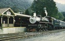 trn001531 - The Alleghany Central Scenic Railway, Hot Springs, Virginia, VA USA Trains, Railroads Postcard Post Card Old Vintage Antique