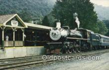 trn001532 - The Alleghany Central Scenic Railway, Hot Springs, Virginia, VA USA Trains, Railroads Postcard Post Card Old Vintage Antique
