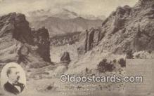 trn001552 - Garden Of The Gods, Colorado Springs, CO USA Trains, Railroads Postcard Post Card Old Vintage Antique