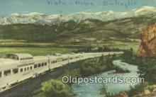 trn001557 - Diesel Powered Stainless Steel California Zephyr, San Francisco, California, CA USA Trains, Railroads Postcard Post Card Old Vintage Antique