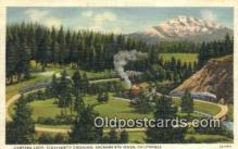 trn001566 - Candara Loop , Sacramento River, California, CA USA Trains, Railroads Postcard Post Card Old Vintage Antique