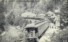 trn001589 - The Limited AT Shasta Springs, CA USA Trains, Railroads Postcard Post Card Old Vintage Antique