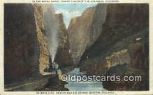 trn001617 - Main Line Denver And Rio Grande, Western Railroad, Royal Gorge, Colorado, CO USA Trains, Railroads Postcard Post Card Old Vintage Antique