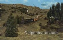 trn001619 - Excursion Narrow Gauge Train, Durango, Colorado, CO USA Trains, Railroads Postcard Post Card Old Vintage Antique