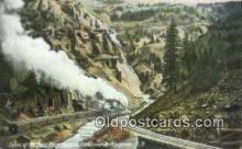 trn001621 - Canon Of Eagle River, Denver, Colorado, CO USA Trains, Railroads Postcard Post Card Old Vintage Antique