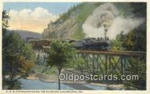 trn001634 - PRR Express Entering The Narrows, Cumberland, Maryland, MD USA Trains, Railroads Postcard Post Card Old Vintage Antique