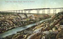 trn001639 - Pecos River Railway Bridge, Langtry, Texas, TX USA Trains, Railroads Postcard Post Card Old Vintage Antique