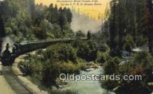 trn001651 - Sacramento River Canon, California, CA USA Trains, Railroads Postcard Post Card Old Vintage Antique