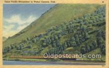 trn001668 - Union Pacific Streamliner, Weber Canyon, Utah, UT USA Trains, Railroads Postcard Post Card Old Vintage Antique