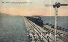 trn001675 - Ogden Cut Off, Great Salt Lake, Utah, UT USA Trains, Railroads Postcard Post Card Old Vintage Antique