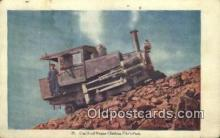 trn001688 - Cog Road Engine, Pikes Peak, Colorado, CO USA Trains, Railroads Postcard Post Card Old Vintage Antique