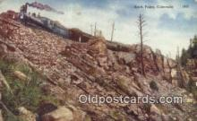trn001693 - Rock Point, Colorado, CO USA Trains, Railroads Postcard Post Card Old Vintage Antique