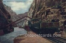 trn001696 - Observation Car In The Royal Gorge, Colorado, CO USA Trains, Railroads Postcard Post Card Old Vintage Antique
