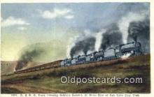 trn001701 - D and RG Train, Soldiers Summit, Utah, UT USA Trains, Railroads Postcard Post Card Old Vintage Antique