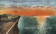 trn001703 - Great Salt Lake, Utah, UT USA Trains, Railroads Postcard Post Card Old Vintage Antique