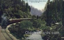 trn001708 - Sacramento Canon, Shasta, California, CA USA Trains, Railroads Postcard Post Card Old Vintage Antique