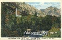 trn001713 - The Hermitage, Ogden Canyon, Utah, UT USA Trains, Railroads Postcard Post Card Old Vintage Antique