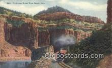 trn001716 - Palisades, Grand River Canon, Colorado, CO USA Trains, Railroads Postcard Post Card Old Vintage Antique