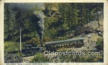 trn001719 - Cog Wheel Train, Pikes Peak, Colorado, CO USA Trains, Railroads Postcard Post Card Old Vintage Antique