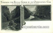 trn001721 - On The Denver and Rio Grande Western Railroad, Observation Car, Royal Gorge, Colorado, CO USA Trains, Railroads Postcard Post Card Old Vintage Antique